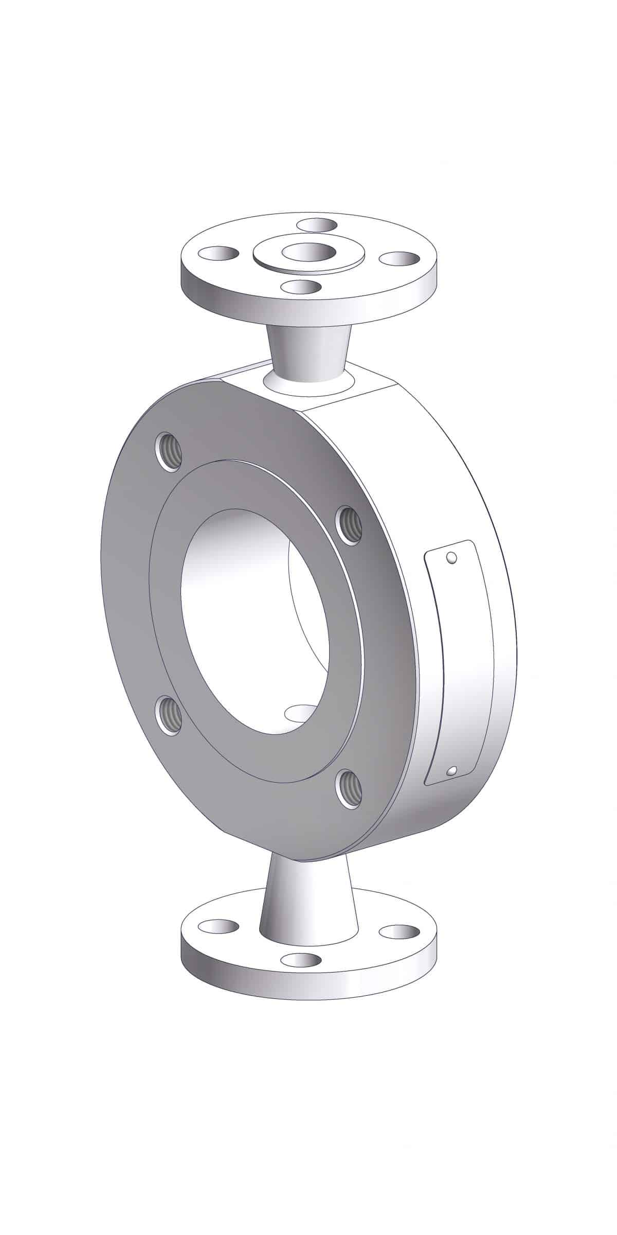 Optional application of a Close-Coupled Flush Ring.