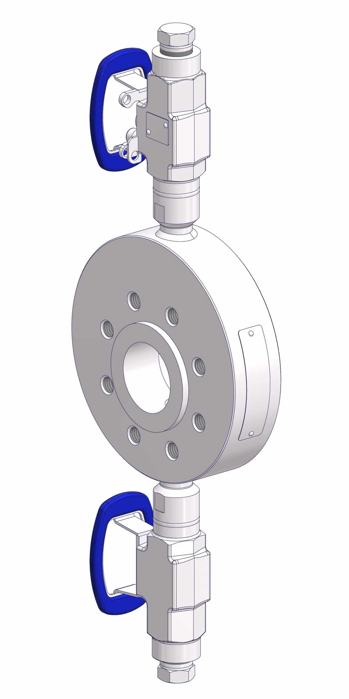 Standard application of a Close-Coupled Flush Ring.